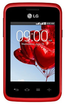 LG L30 Sporty Dual (Red/Black)
